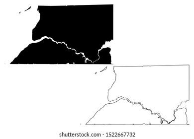 Bristol Bay Borough, Alaska (Boroughs and census areas in Alaska, United States of America,USA, U.S., US) map vector illustration, scribble sketch Bristol Bay map