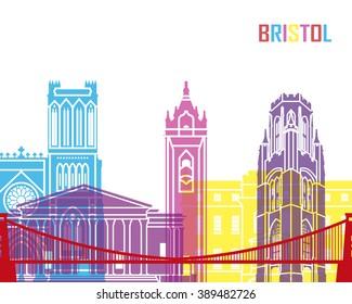 Bristol skyline pop in editable vector file