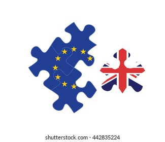Britain Brexit Vote Decision Graphic -  Disintegrated Puzzle