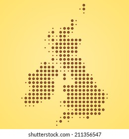 Britain Map Illustration