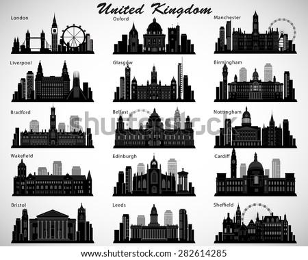 Britains cities skylines set