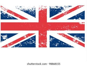 Britain,UK flag in grunge