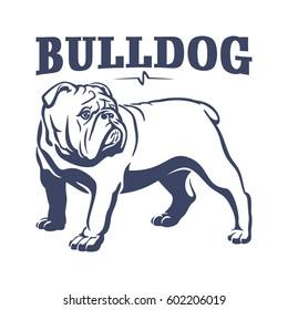 British bulldog mascot emblem. Dog vector illustration