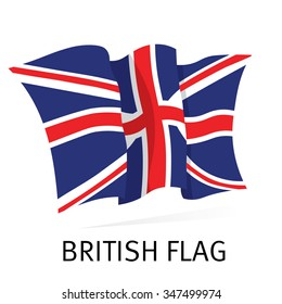 British Canvas Waving Flag in vector
