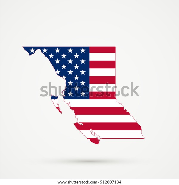British Columbia Map United States Flag Stock Vector ... on west rivers in united states, district of columbia map united states, british columbia map with cities, british columbia map alaska, columbia river map united states, british columbia canada, british columbia and alberta road map, columbia city in the united states, british columbia usa,