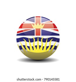 British Columbia national circle button flag background texture. Vector illustration.