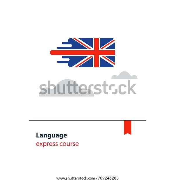 British English Language Class Concept Icon Stock Vector