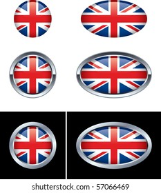 British Flag Buttons