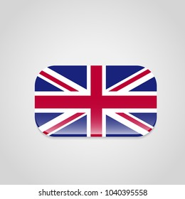 British flag design with rounded corners vector