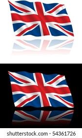 British Flag Flowing