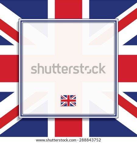 British Flag Frame Vector Illustration Stock Vector (Royalty Free ...