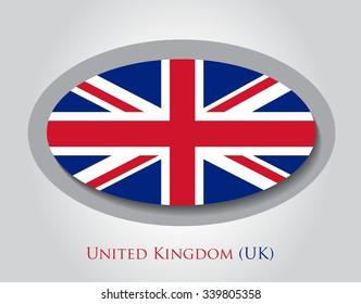 British flag icon.UK flag vector illustration.
