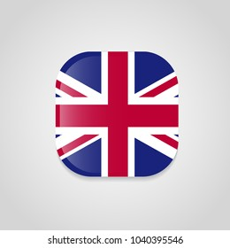 British flag with rounded corners vector design