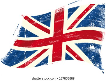 A british flag with a texture for you.