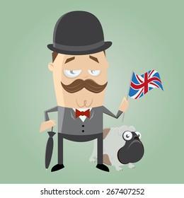 british man illustration