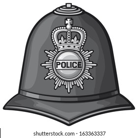 british police helmet (bobby cap)