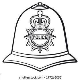 british police helmet (bobby hat)