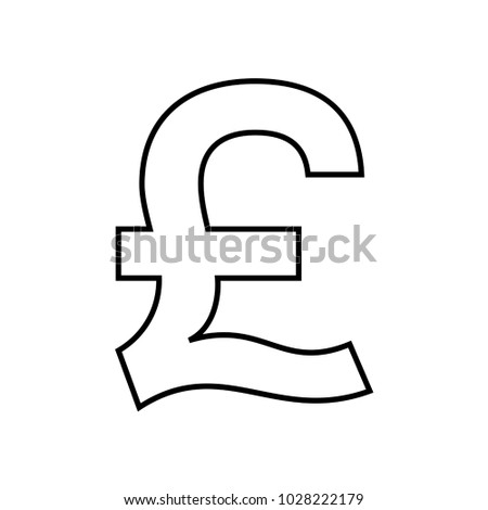 British Pound Currency Symbol Icon Vector Stock Vector Royalty Free