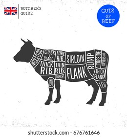 british uk cuts beef butcher 260nw 676761646 cow parts images, stock photos & vectors shutterstock
