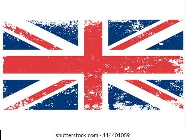 British UK flag grunge. Vector.