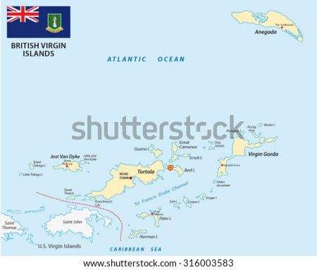 British Virgin Islands Map Flag Stock Vector (Royalty Free ...