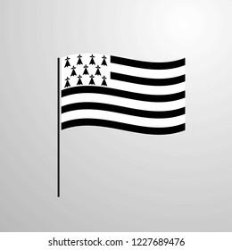 Brittany waving Flag