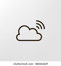 Broadcast icon vector, clip art. Live stream cloud computing. Also useful as logo, web UI element, symbol, graphic image, silhouette and illustration.
