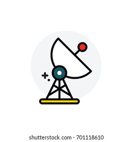 broadcast Isolated Line Vector Illustration editable Icon