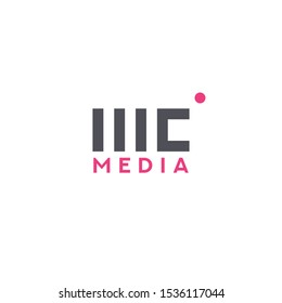 Broadcast logo design for entertainment industry. Combination of letter m, c, and broadcast symbol.