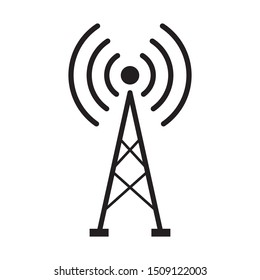 broadcast, transmitter antenna icon design vector illustration
