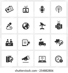 Broadcasting and journalism vector icons. File format is EPS8.