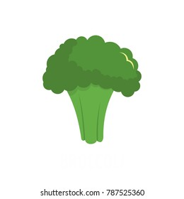 Broccoli icon. Flat illustration of broccoli vector icon isolated on white background