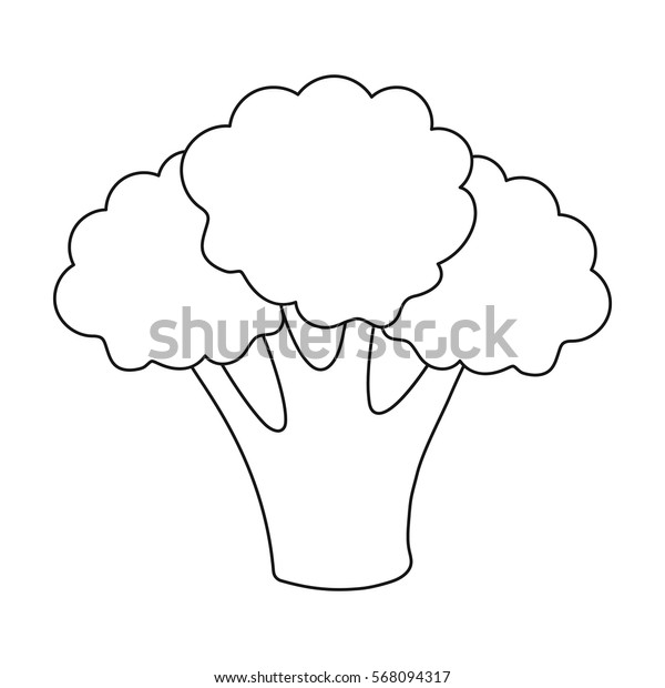 Broccoli icon outline. Singe vegetables icon from the eco food outline.