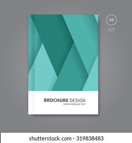 brochure background layout with shadows concept for book / Vector book cover template design