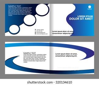 Brochure bi-fold template
