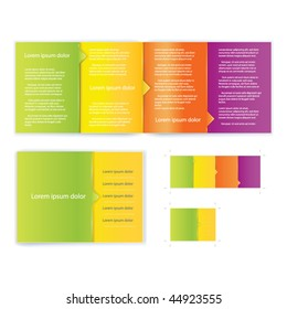 Brochure ( booklet ) cover template vector for business artworks. Include print version