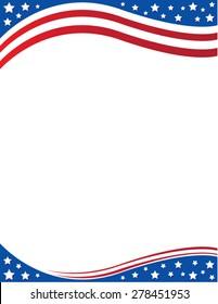 Brochure Border  patriotic