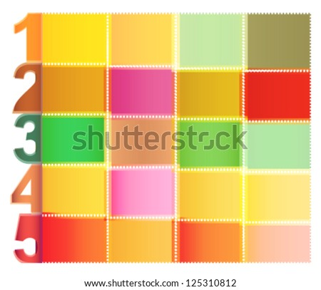 brochure catalog design template layout numbers stock vector