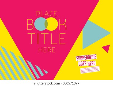 Brochure cover with background design/ Vector poster design/ Abstract background pattern/ Graphic design/ Book cover template/ Scrapbook design layout with geometrical pattern