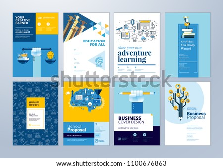 Brochure Cover Design Flyer Layout Templates Stock Vector Royalty