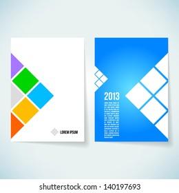 Brochure cover design vector template