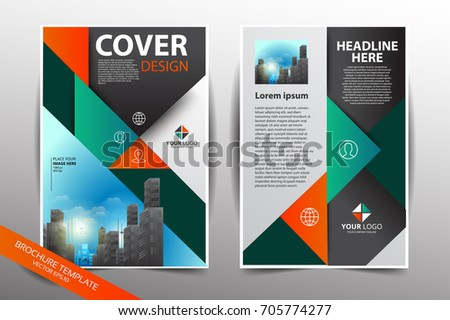 brochure cover flyer leaflet annual report stock vector royalty