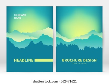 Brochure cover template vector. Presentation abstract  blurred background for poster. Layout in A4 size