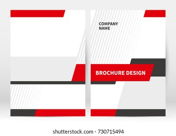 Brochure cover template vector. Presentation abstract geometric background for poster. Layout in A4 size