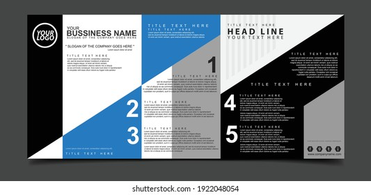 Brochure creative design. Multipurpose template.