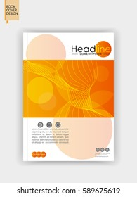 Brochure design. A4 academic journal cover design template. Annual report brochure. Book cover. Vector Illustration.