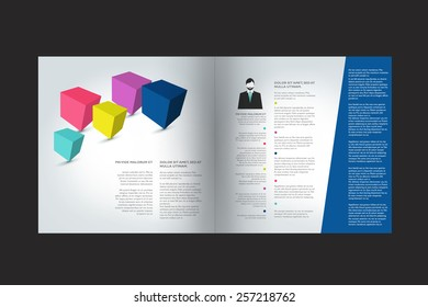 Brochure design. Annual report sample text page.
