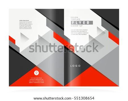brochure design business booklet template creative stock vector