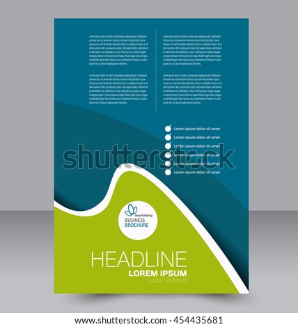 brochure design flyer template editable a 4 stock vector royalty