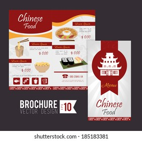 Brochure design over gray  background, vector illustration